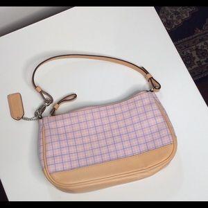 Coach Purse Wristlet Wallet Clutch Pink Plaid